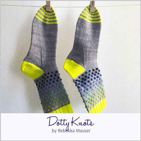 Dotty Knots Socks