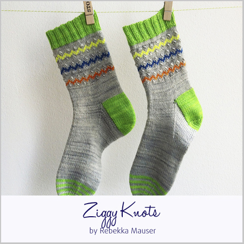 Ziggy Knots Socks