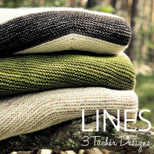 LINES - Pattern book with 3 shawl designs